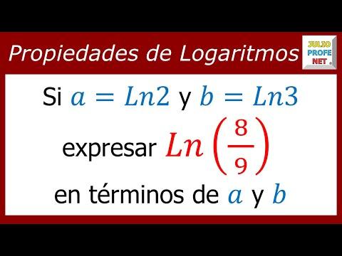 Ejercicio con logaritmos