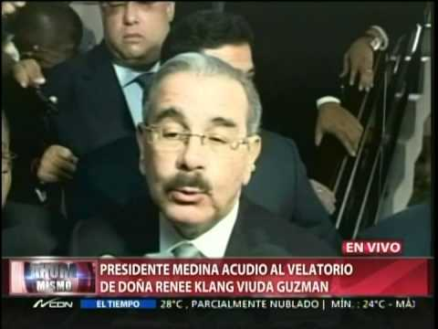 Presidente Medina acudio al velatorio de Doña…