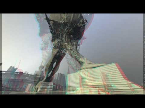Future City in 3D Anaglyph - Use RED/CYAN GLASSES