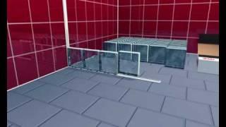 block lock system montage glasbausteine glasbausteinverlegung. Black Bedroom Furniture Sets. Home Design Ideas