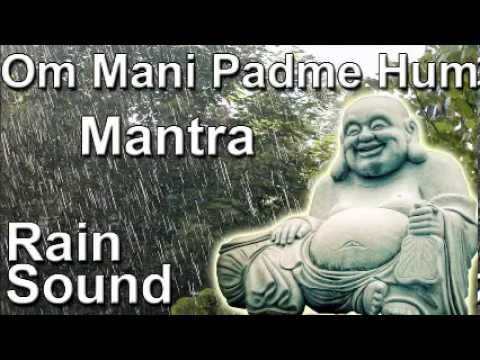 OM MANI PADME HUM - Mantra 8hour full night meditation with rain sound - Relaxation