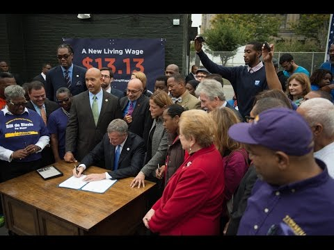Mayor de Blasio Increases (Minimum  Wage)  immediately  to  $13.13per hour   10/1/14