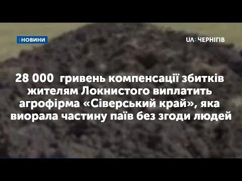На Чернігівщині фірма має виплатити селянам 28 тисяч гривень за самовільно виорану землю. ВІДЕО