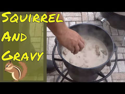 The Best Way to Cook Squirrel - Smother Fried Squirrel and Gravy in the Dutch Oven