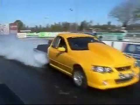 RDP Motorsport USA Ba XR8 Twin Turbo Ute at the Drags Testing