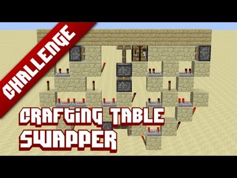 Minecraft Challenge: Crafting Table-swapper (Block swapper with conditional extender)