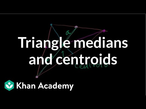 Triangle Medians and Centroids
