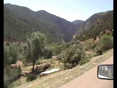 Morocco - journey to top of mountain near Azilal (Ait Attab)
