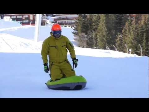 Airboarding in Courchevel, video Sony Nex-7. HD. Film 7/8