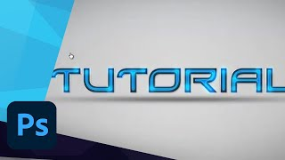 #35 Photoshop Tutorial - Futuristic Text Effect