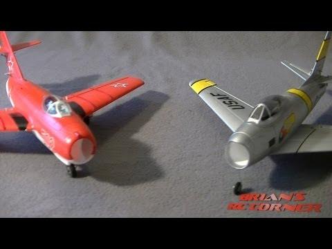 E-Flite UMX Mig-15 vs Great Planes Micro F-86: Micro EDF Shootout! - UCqFj04rRJs6TJIwsVvCQK6A