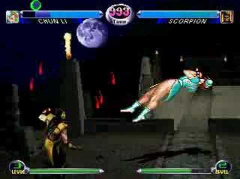 BS: MK Chun Li mugen 16# Scorpion