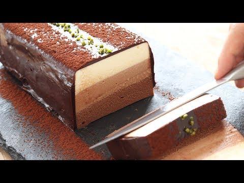 No-Bake Chocolate Cheesecake*Eggless Recipe チョコレート・レアチーズケーキの作り方|HidaMari Cooking