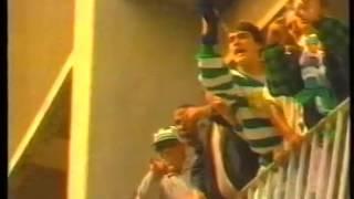 Recepção à equipa do Benfica, no jogo Sporting - Benfica de 1989/1990