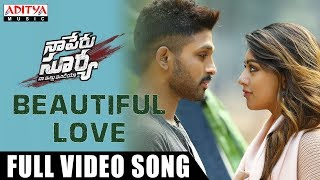 Beautiful Love Full Video Song | Naa Peru Surya Naa Illu India