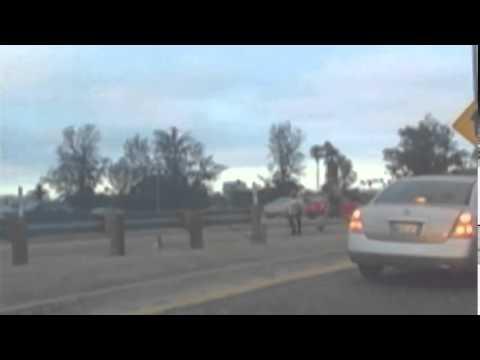 Officer Beats (Woman) on LA Freeway  7/5/14