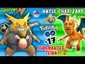UNCLE CHARIZARD! Pokemon Go CRAZY Evolutions in CHARMANDER TOWN pt. 2 (FGTEEV Part 17)
