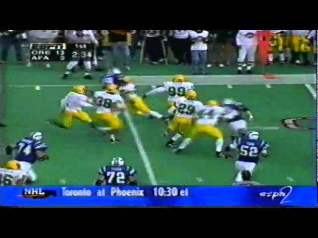 Oregon safety Jaiya Figueras big hit vs. Air Force 11-22-1997