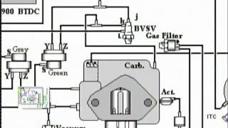 vacuum diagram on toyota 2e engine youtube