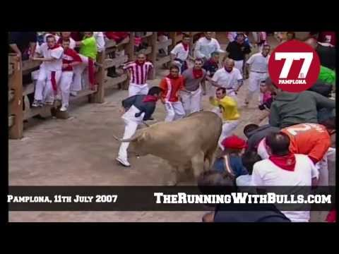 11th July 2007 - The running of the bulls in Pamplona