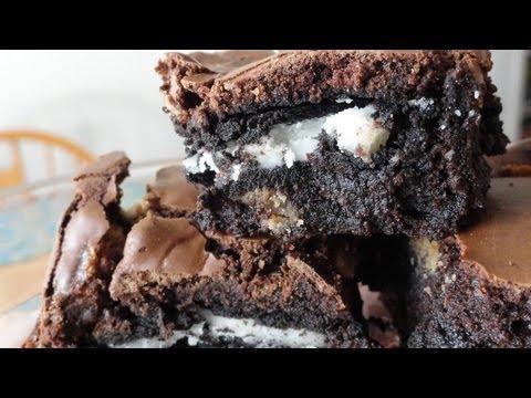 Recipes Using Cake Mixes: #16 Oreo cookie brownies
