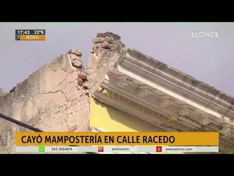 Las ráfagas de viento provocaron el derrumbe de mampostería de un ex hotel en Paraná