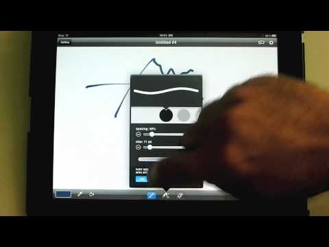 Painting with the Brushes App - An iPad Mini Tutorial