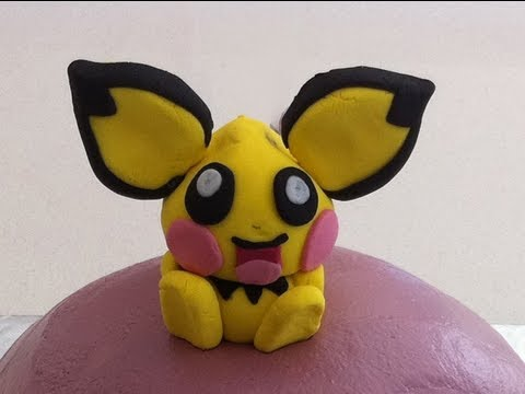 pokemon pichu kids birthday cake fondant decoration how to