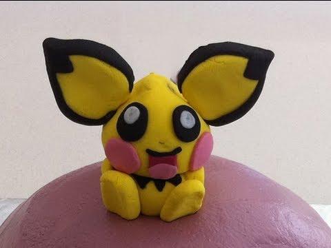 pokemon pichu kids birthday cake fondant decoration how to