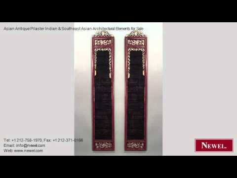 Asian Antique Pilaster Indian & Southeast Asian Architectura