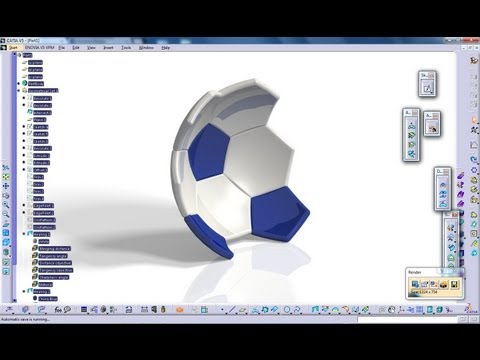 Catia V5 Tutorial|Generative Shape Design|How to create a Soccer Ball|Start to Finish|Part 1