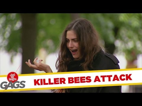 Killer Bees Attack Women In Park Prank