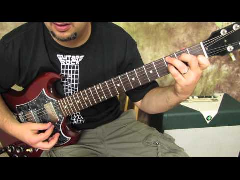 CCr - Suzie Q - Rock and Blues Guitar Lesson - How to Play on Guitar - Gibson SG