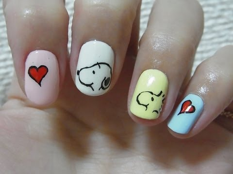 Snoopy nail art / スヌーピーネイルアート - Snoopy And Woodstock Nails - 06:05 Video Peržiūra Go4pro.lt