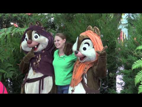 Chip and Dale as Ewoks Star Wars Weekends Disney's Hollywood Studios Walt Disney World