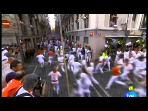 Quinto Encierro SanFermines 2011   11 Julio San Fermin Pamplona Crestomatía TVE 720p