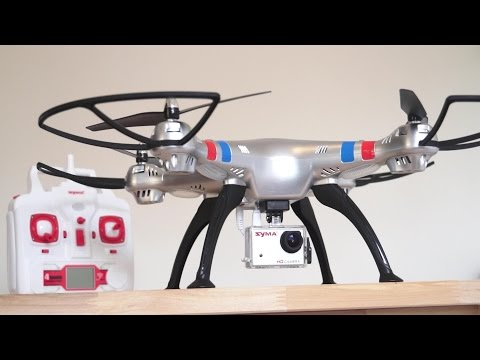 Syma X8G Quadcopter with 8MP HD Camera Indoor Review - UCsFctXdFnbeoKpLefdEloEQ