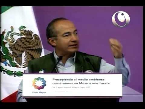 El Presidente Calderón inauguró la Novena Expo Forestal