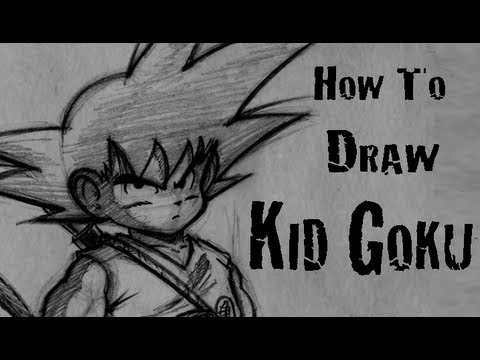 How To Draw Kid Goku -HCaeoIvIVAQ