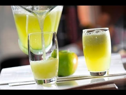 Agua de manzana verde con limón - Green Apple Water with Lemon - UCvg_5WAbGznrT5qMZjaXFGA