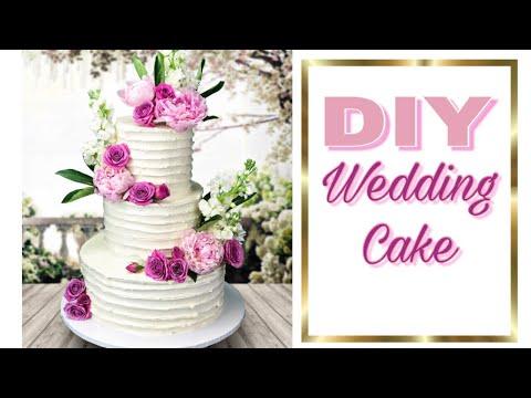 Easy DIY Wedding Cake - how to make a wedding cake