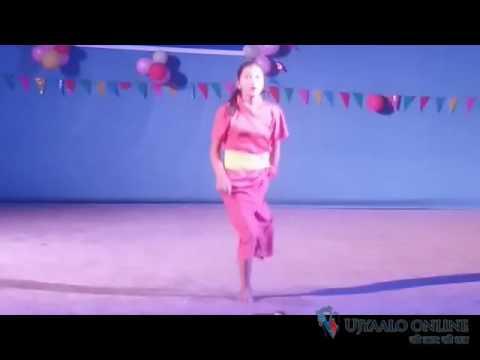 एउटा मात्र खुट्टाले नाच्ने धादिङकी रुक्शा थापाको नृत्य