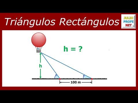 Problema trigonométrico con triángulos rectángulos