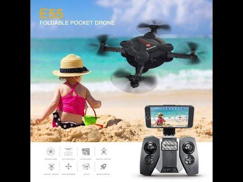 Eachine E55 Mini WiFi FPV Foldable Pocket Drone With High Hold Mode - default