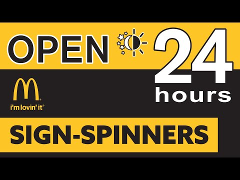 AArrow Sign Spinners & McDonald's !