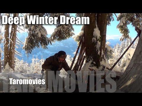 Solo Mountain Overnight in a Deep Winter Dream/HD Bushcraft Survival Video