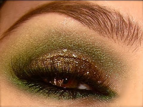 Sultry Green Smokey Eyes with Sparkles