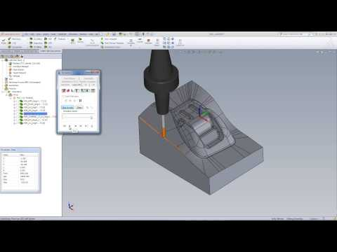 SolidCAM HSR-HSM Machining A Mold Insert
