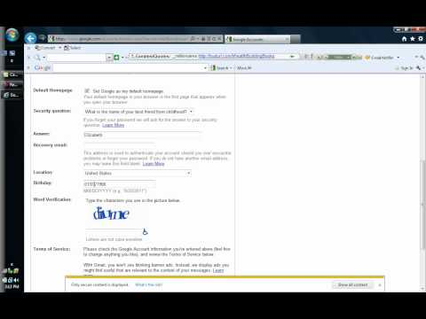 Create a gmail account English