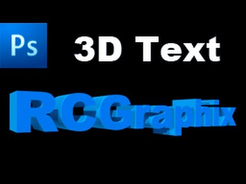 Photoshop Tutorial: Create a 3D Text Effect Using CS5 3D Features  -HD- -HOl-9zAgv_s